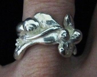 Seaweed & Periwinkle Ring