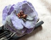 Felted Flower Lavender
