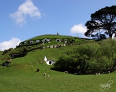 Photography Print - New Zealand, Landscape, Hobbiton, Lord of the Rings, Movie Set, Bag End - 5x7