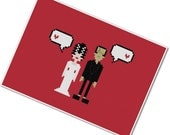 Frankenstein's Monster & The Bride - The *Original* Pixel People in Love - PDF Cross-stitch Pattern - INSTANT DOWNLOAD