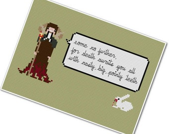 Tim the Enchanter - The *Original* Pixel People Quoteables - PDF Cross-stitch Pattern - INSTANT DOWNLOAD