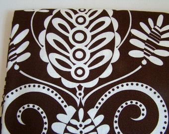 Large Scale Modern Medallion Fabric, Michael Miller Whimsy Doozie Fabric, Coco Brown OOP
