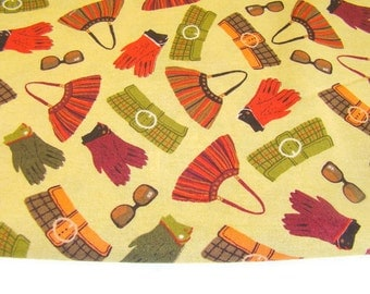 Handbag and Gloves Fabric, Michael Miller Essentials Accessory Fabric, OOP Fabric