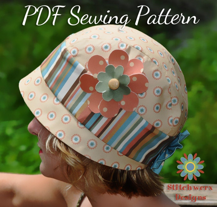 Vintage Cloche Hat PDF Sewing Pattern by StitchwerxDesigns on Etsy