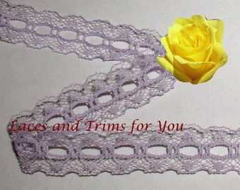 Lavender Lace Trim 12/24 Yards Vintage Beading 3/4 inch wide Lot D04A Added Items Ship No Charge