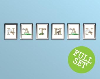 Animal Alphabet Series Prints FULL SET