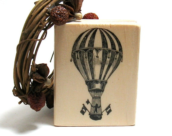 Travel Stamps - Hot Air Balloon and more (Set of 6)