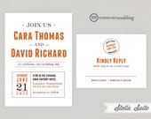 Stella Rustic Graphic Printable Digital Wedding Invitation