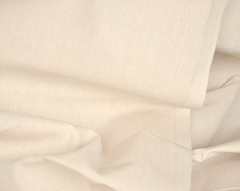 Wholesale COTTON Duck Fabric. UNBLEACHED ORGANIC Cotton Fabric. 47 inch wide. 10 Yards