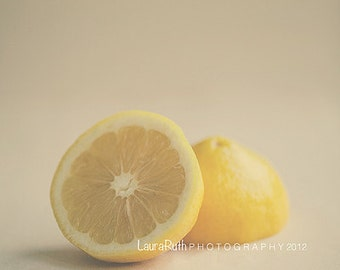 "Kitchen Photography -Food Photograph - Lemons Fruit - Vintage Inspired - Home Decor - Kitchen Decor - Fine Art Photography 8x10 - ""ZEST"""