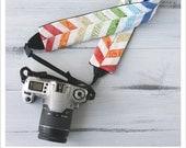 rainbow chevron camera strap cover