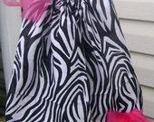 zebra and hot pink dress