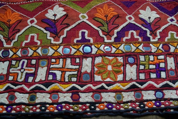 Mirrored Embroidery Yardage, India, 1970s