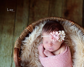 SALE - Soft Cream, Cozy, Cuddly Faux Fur Nest - Perfect Newborn Photography Prop - Plush Long Pile, Stuffer, Filler, Layering, Bean Bag