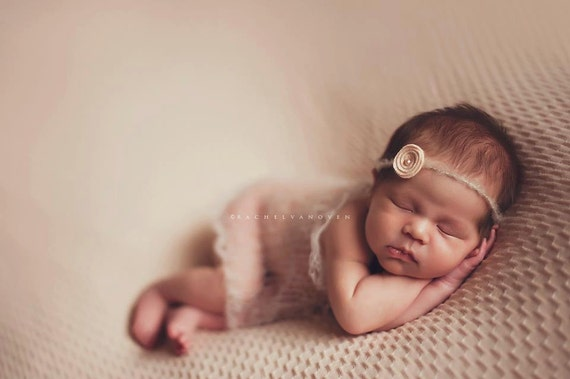 Leighton Heritage Signature Dreamy Knit Newborn Wrap - Soft, Swaddle Cocoon Photography Posing Prop