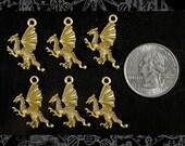 Bronze Dragon Charms Set of Six  ZB-C19