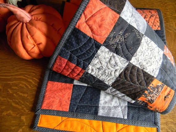 Special Halloween Spider Web Quilted Table Runner 60 x 12 Free Shipping