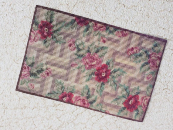Dollhouse Miniature Rug in 1930s Style in One Twelfth Scale