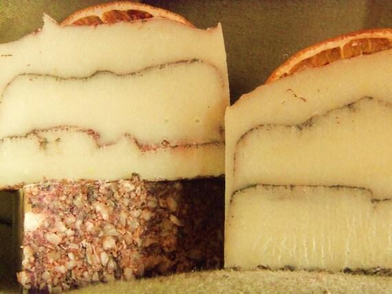 1 Sample Sweet Orange Spice soap.  Vegan Friendly  approx 2oz