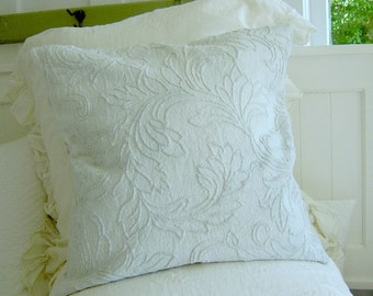 Honeydew Chenille Pillow Cover Bella Notte Fabric