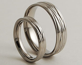 wedding bands titanium rings titanium wedding ring set titanium wedding band set - Wedding Band Rings