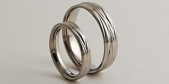 Wedding Bands Titanium Rings Ring Set