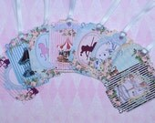 Shabby Chic Carousel Gift Tags set of 8  No.404