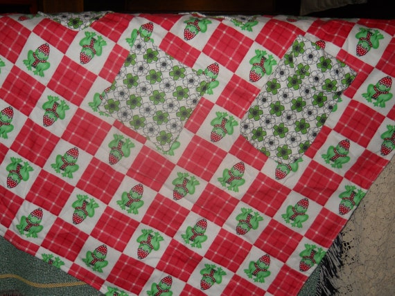 Lap Quilt/Flannel quilt/Wheel chair pocket blanket/Houswares
