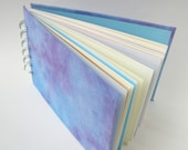 Journal with Mixed Paper Pages, Sky Blue and Purple Covers