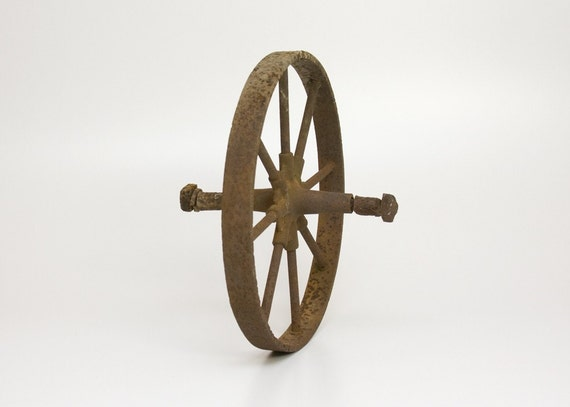 Wheel - Iron, Agricultural, Antique