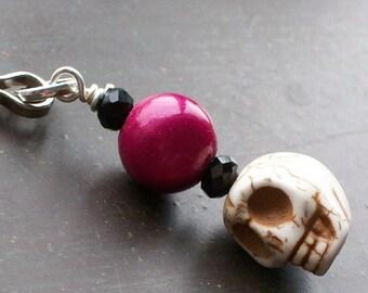 Sugar Skull Zipper Charm