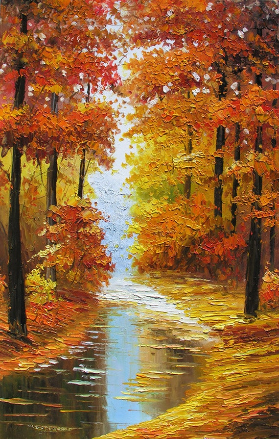 Original Oil Painting Canadian Autumn MADE to ORDER Handmade Landscape ...