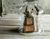 RESERVED - Cloche with Vintage Black Door Knob