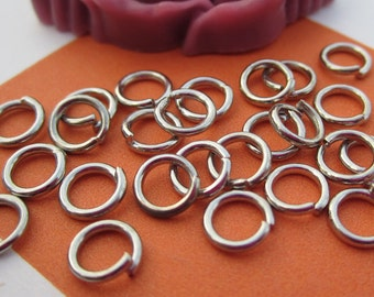 Silver Jumprings--100 pcs 6x1.0mm Nickel Free Antique Silver Jump Rings