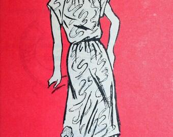 Vintage Anne Adams Dress Pattern 4840 Sizes 6 thru 12 Bust 30.5 thru 34 Mail Order Pattern