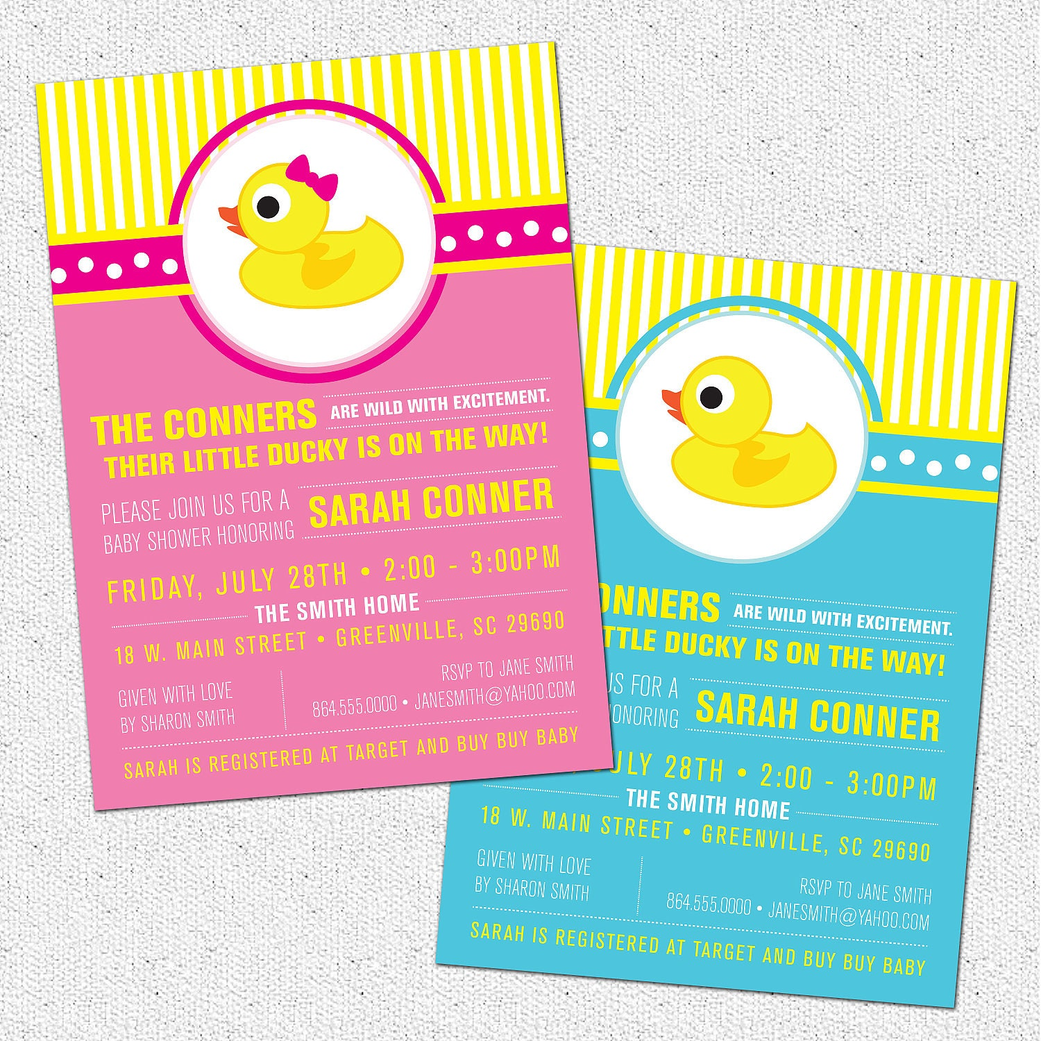 little rubber duckyduck baby shower invitation printable