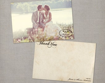"Vintage Wedding Thank You Cards - the ""Sharon"""
