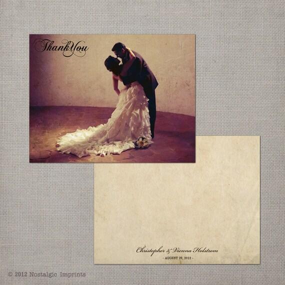 "Vintage Wedding Thank You Cards / Wedding thank yous / Wedding Thank You Cards / Thank you Cards / Vintage thank you card - the ""Vienna"""
