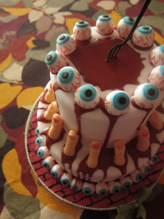 Items Similar To Scary Eye Ball Cupcake Amp Cake Toppers 12