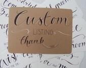 Custom Listing for Abby