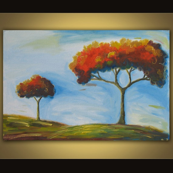 Tree oil painting on canvas 36 x 24