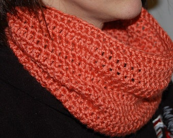 Silky coral Infinity Scarf cowl smooth soft