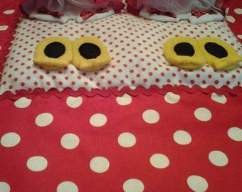 SALE was 85 now 55 Twin Minnie Mouse Stroller/Pack n Play Quilt