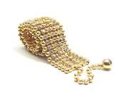 Choker necklace by Kenneth Jay Lane KJL.  Designer vintage glamorous and stunning.  Exquisite gold statement or bridal piece.