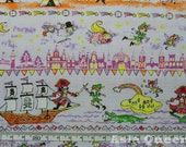 "Cotton fabric - Peter pan - 2 colors , 2 yards - fairy tale -  pure cotton, Check out with code ""5YEAR"" to save 20% off"