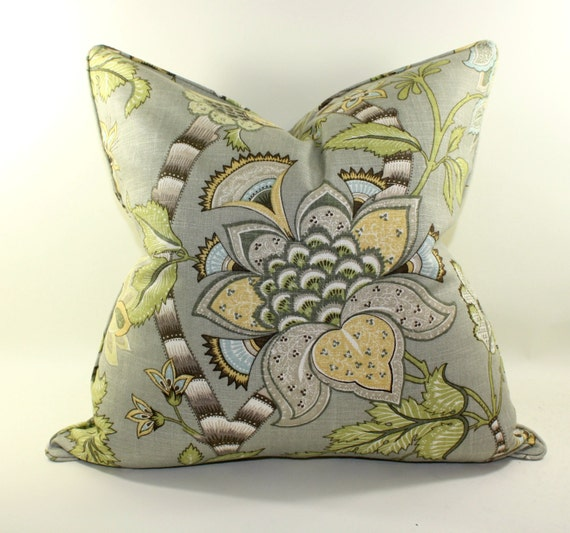 P Kaufmann Clarice Dove Pillow Cover, Decorative Pillow Cover, Cushion Cover