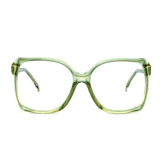 OWP Hurrican big vintage Eyeglasses - transparent  green