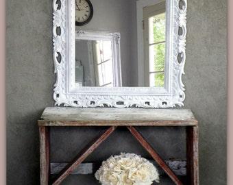 Antique Framed Mirror Ornate Shabby Chic