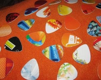 20 Recycled Guitar Picks