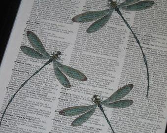 BOGO SALE Dragonfly Dictionary Art Print Dragonflies Dictionary Print Book Print Art Vintage Dictionary HHP Original Concept and Design